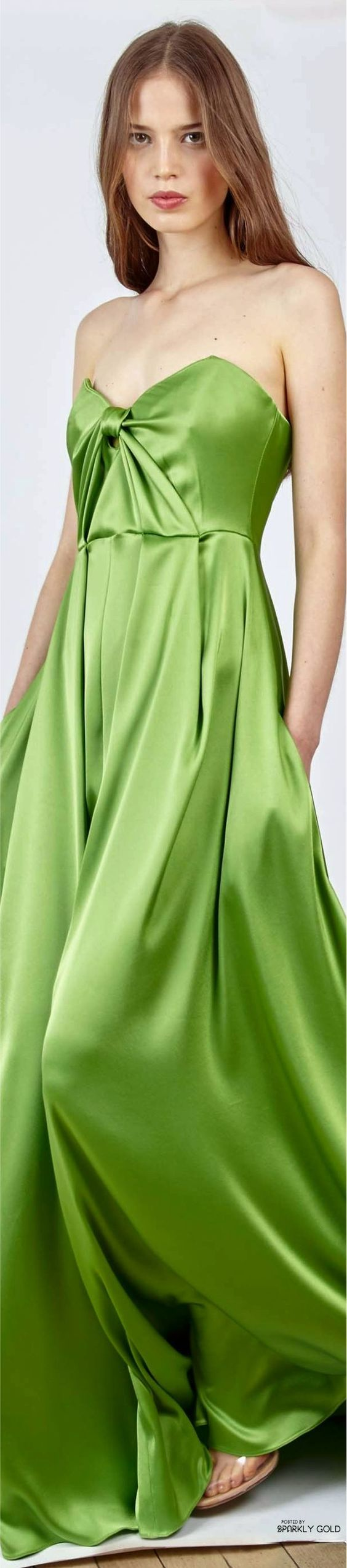 Alexis Mabille Resort 2017 green dress @roressclothes closet ideas #women fashion outfit #clothing style apparel