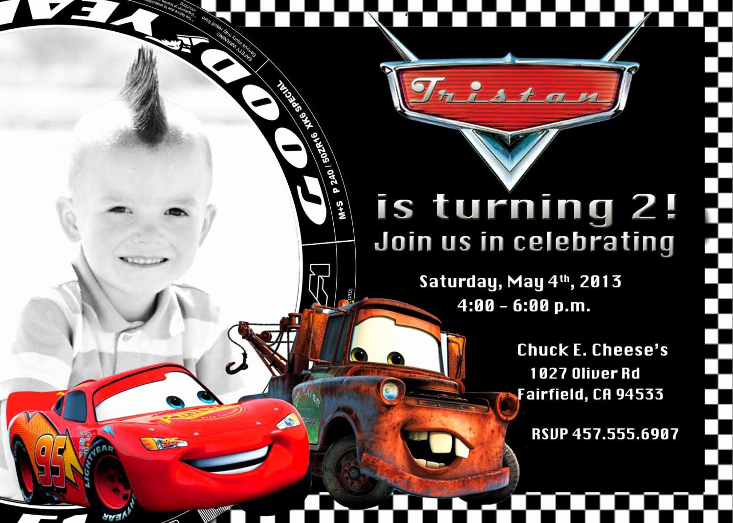 cars birthday invitations