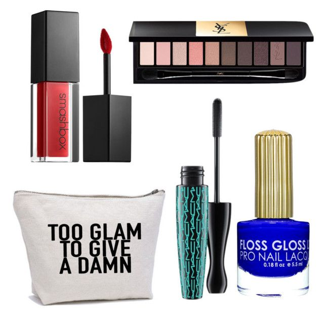"""""""It's Glam BABY"""" by alaciab on Polyvore featuring beauty, Smashbox, Yves Saint Laurent and MAC Cosmetics"""