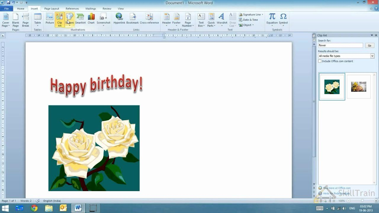 Ms Word Birthday Card Template Awesome Working With Word Art In Ms Word Hindi A A A New Year Greeting Cards Birthday Card Template Happy Birthday Card Design