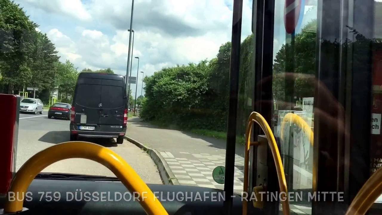 Buslinie 759 vom Flughafen Düsseldorf nach Ratingen Mitte