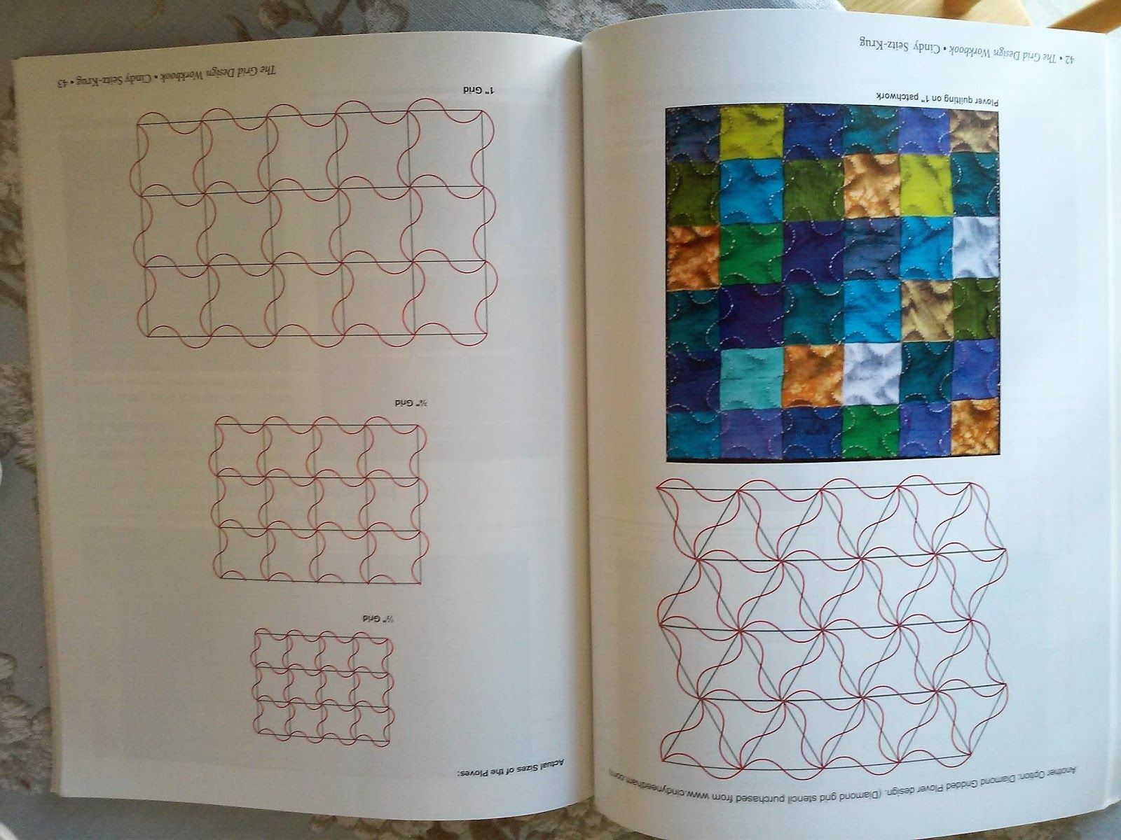 For all of us machine quilters who are looking for some new ideas for quilting designs, this is a wonderful new book by Cindy Seitz-Kru...