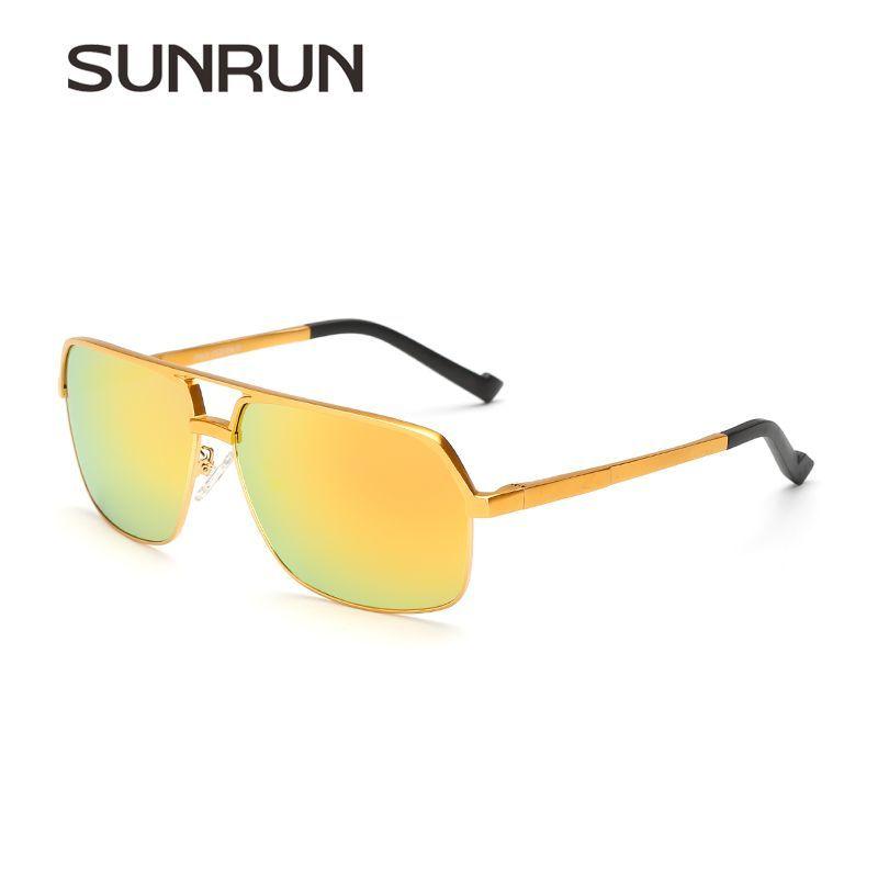 348a8ffbb8 SUNRUN Sunglasses Polarized Men Aluminum Metal Frame Large Size Sun Glasses  Mirror Eyewear Accessories lentes de sol hombre 8549  Ties
