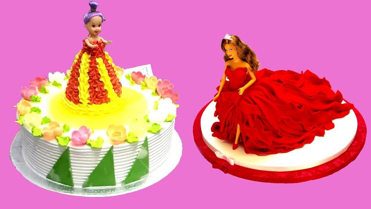 How To Make Toy Barbie Cake Tutorial Compilation