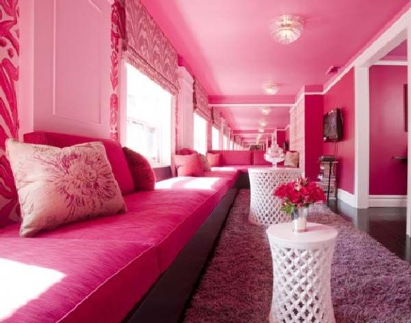 pink beautiful rooms | Pink living room design ideas cool and ...