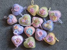 José ganchillo: corazón del patrón de crochet libre ♥