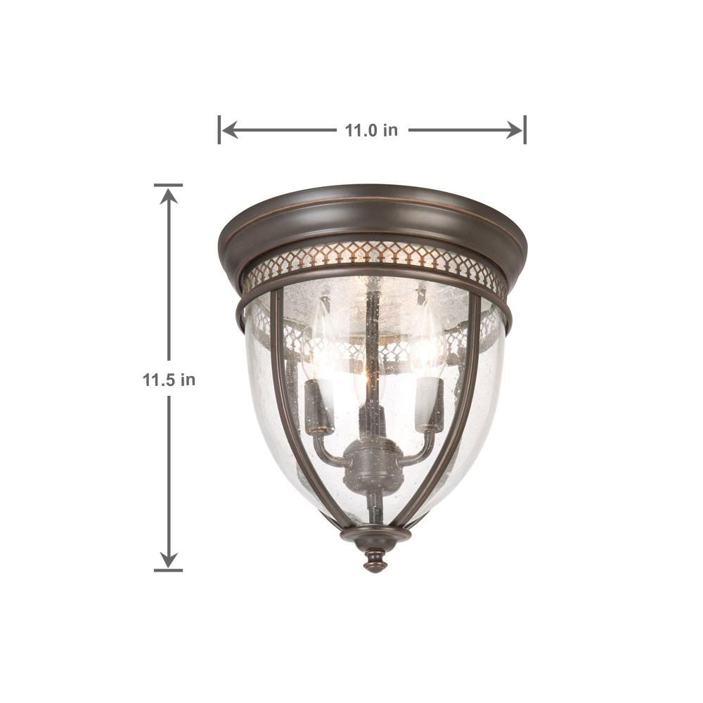 Hampton Bay 3 Light Oil Rubbed Bronze Flushmount Hlu8013a 2 The Home