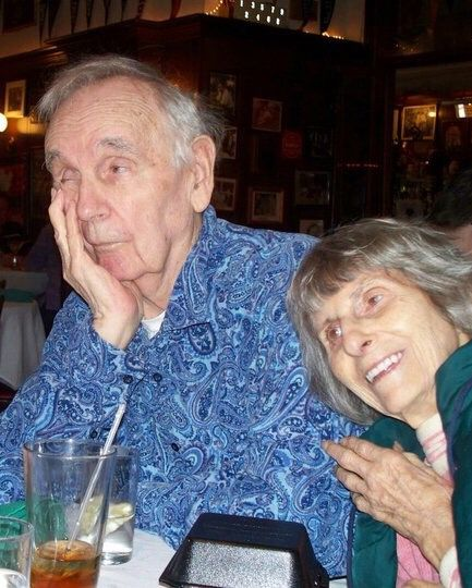 My Grandparents- almost 75years of marriage! His bored look WASN'T because of her hugging him, but because of my uncles second wife's comments! 2011(?)