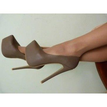 yea? yea. Beige heels. |2013 Fashion High Heels|
