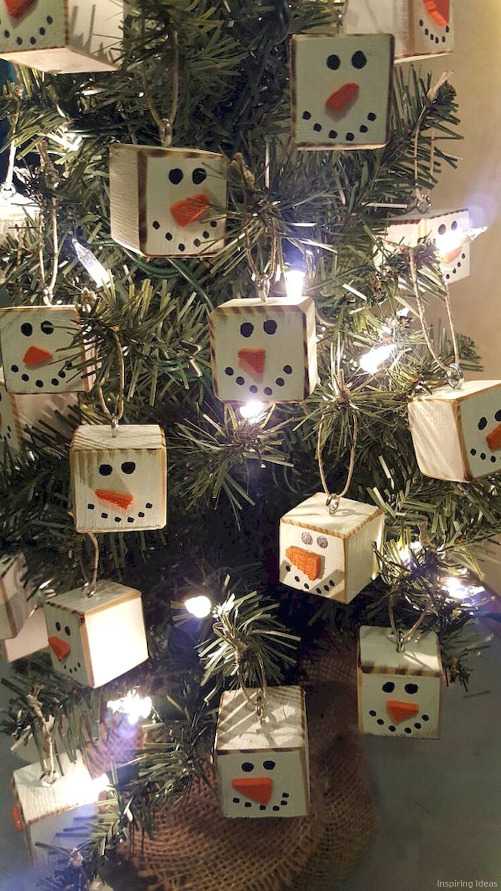 0036 Rustic DIY Christmas Ornaments Ideas Christmas