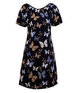 Đầm suông họa tiết trẻ trung