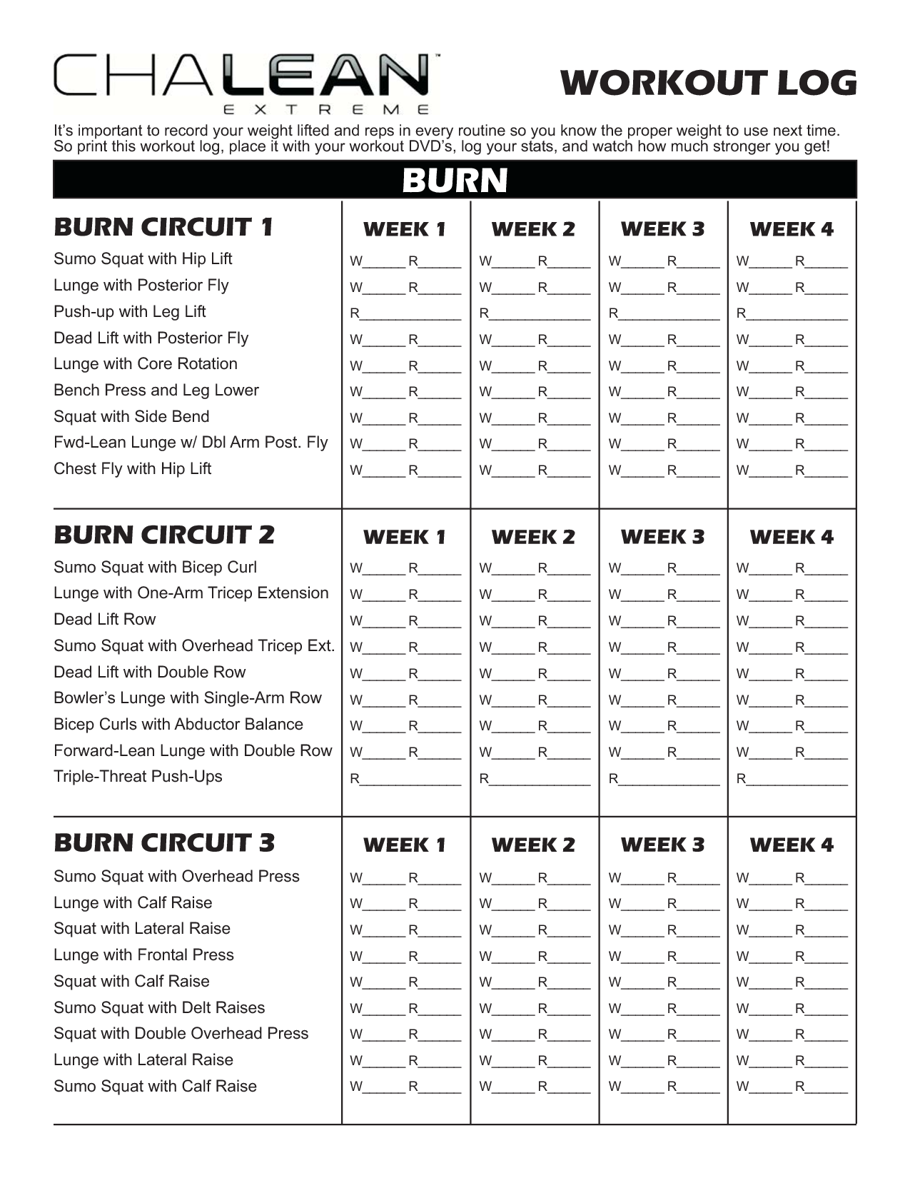Worksheets Chalean Extreme Worksheets chalean extreme workout sheets log get sheets