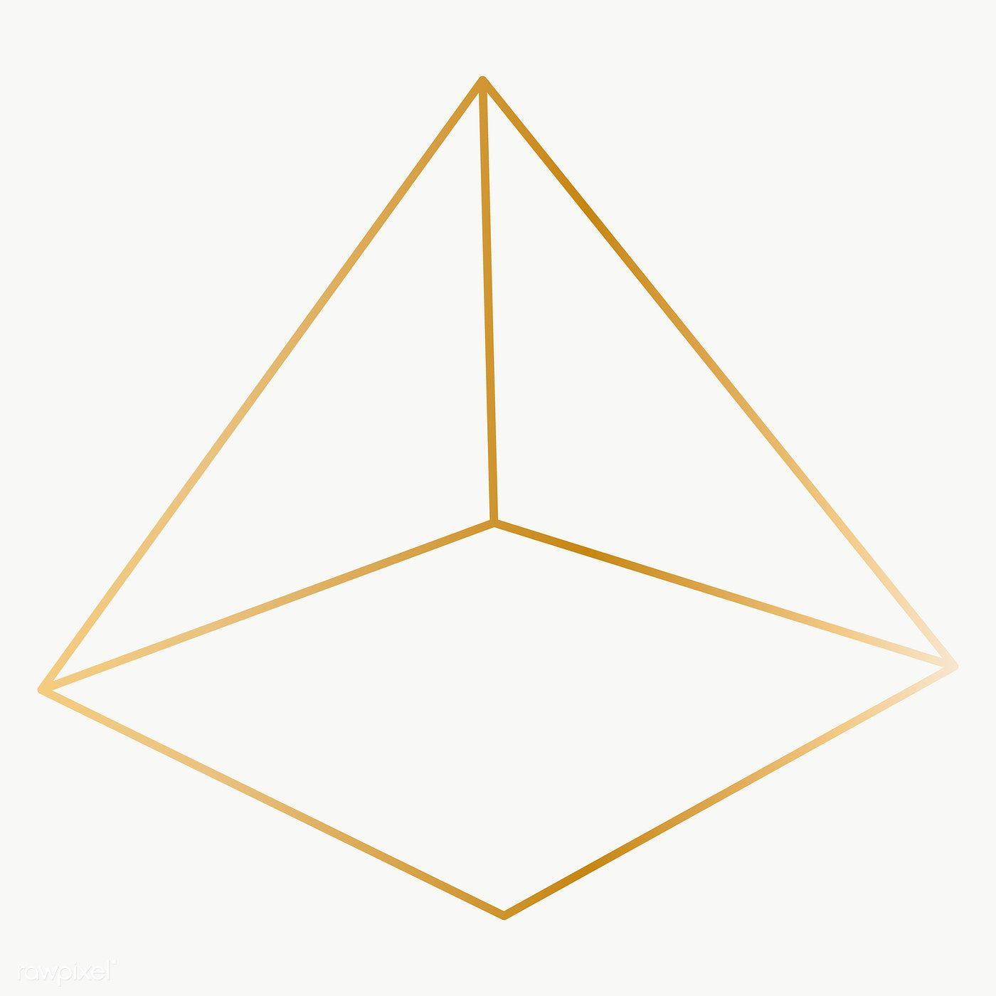 Minimal Gold Pyramid Shape Transparent Png Free Image By Rawpixel Com Katie Pyramids Vector Background Pattern Background Design Vector