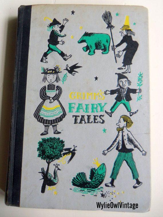 Vintage Grimm's Fairy Tales Book Junior Deluxe Edition