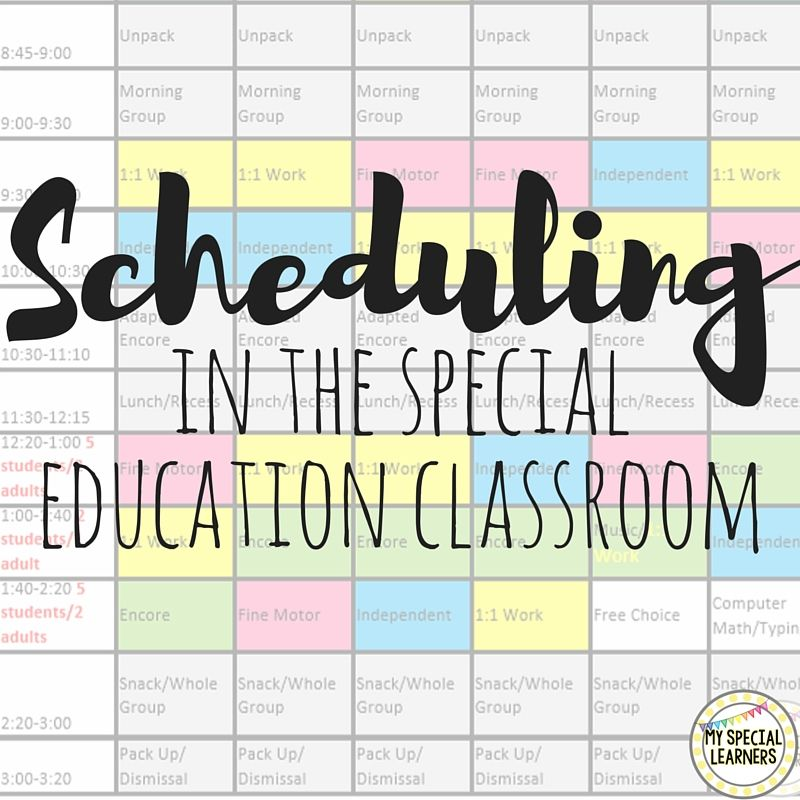 Need Help Putting Together A Schedule For Your Special Education
