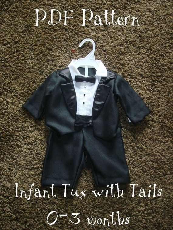 Sewing pattern infant tuxedo with tails | When My Adam Wakes Up ...