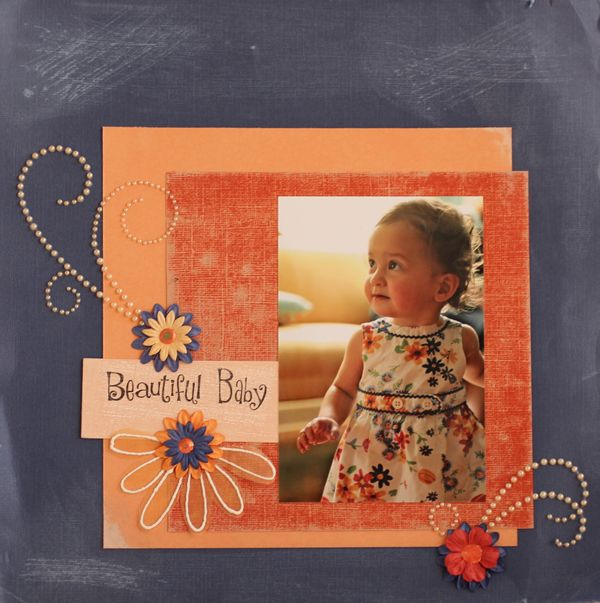 Beautiful baby a simple scrapbook page layout idea - Scrapbooking idees pages ...