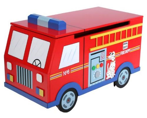 Bon Teamson Kids Fire Engine Toy Chest   Toy Storage At Hayneedle