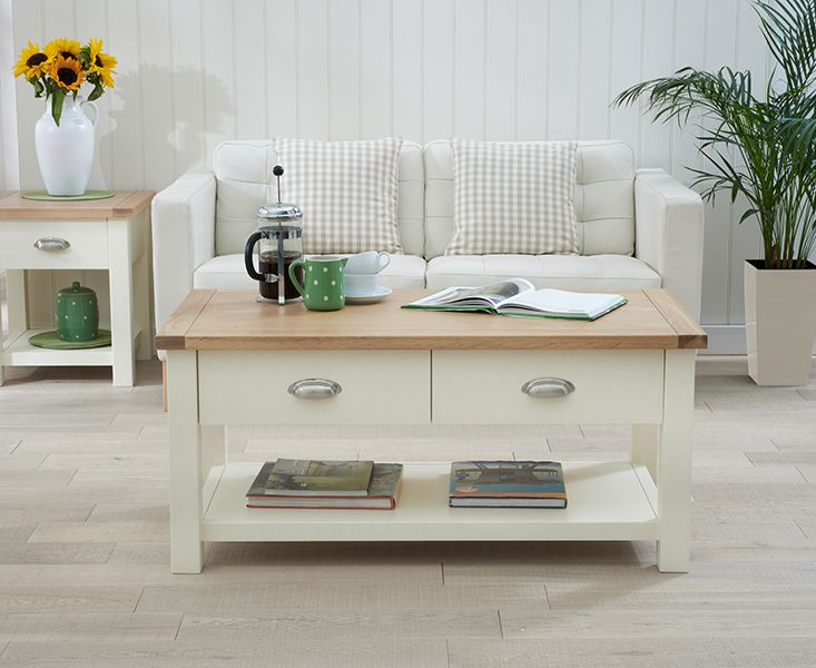 Somerset Oak And Cream Coffee Table 239 Lounge