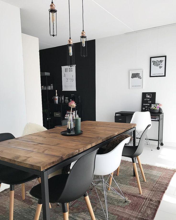47 Incredibly Inspiring Industrial Style Kitchens: Industrial Vibes! An Diesem Schönen Esstisch Im Vintage
