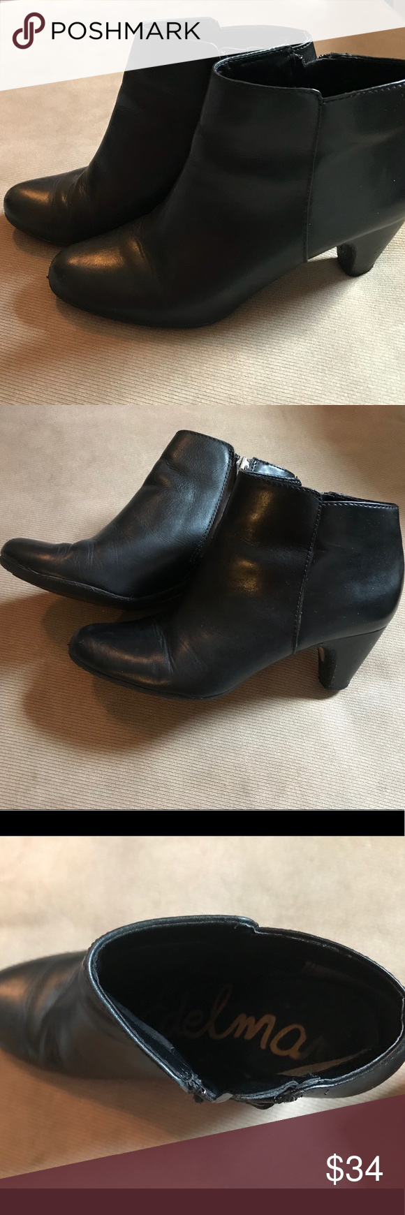 3b5bb1831465 Sam Edelman Meredith Black Ankle Booties The perfect basic bootie! These  are in great preowned