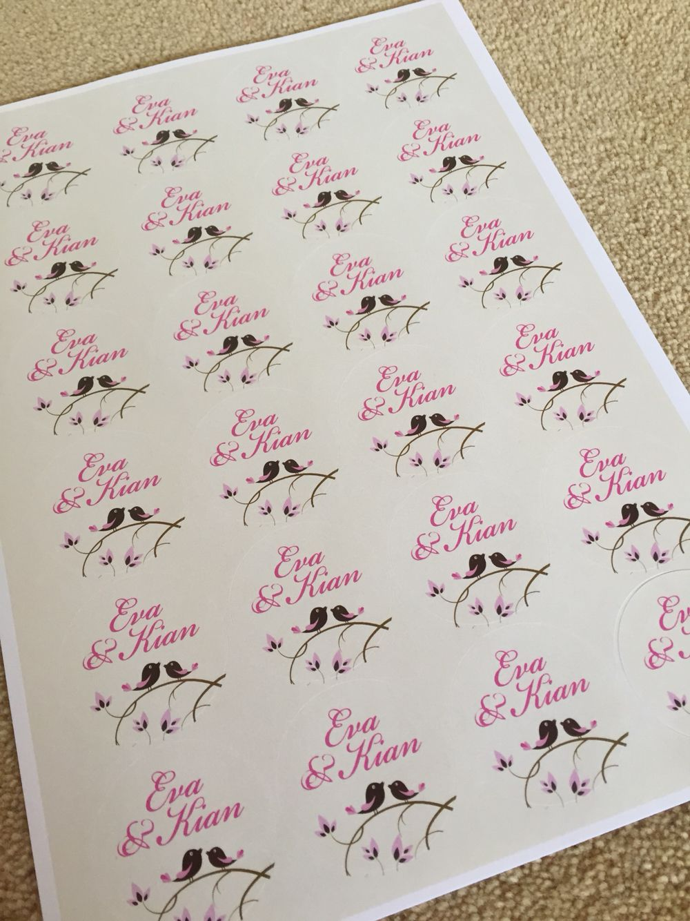 Personalised stickers by Fuschia can be used to seal envelopes for ...