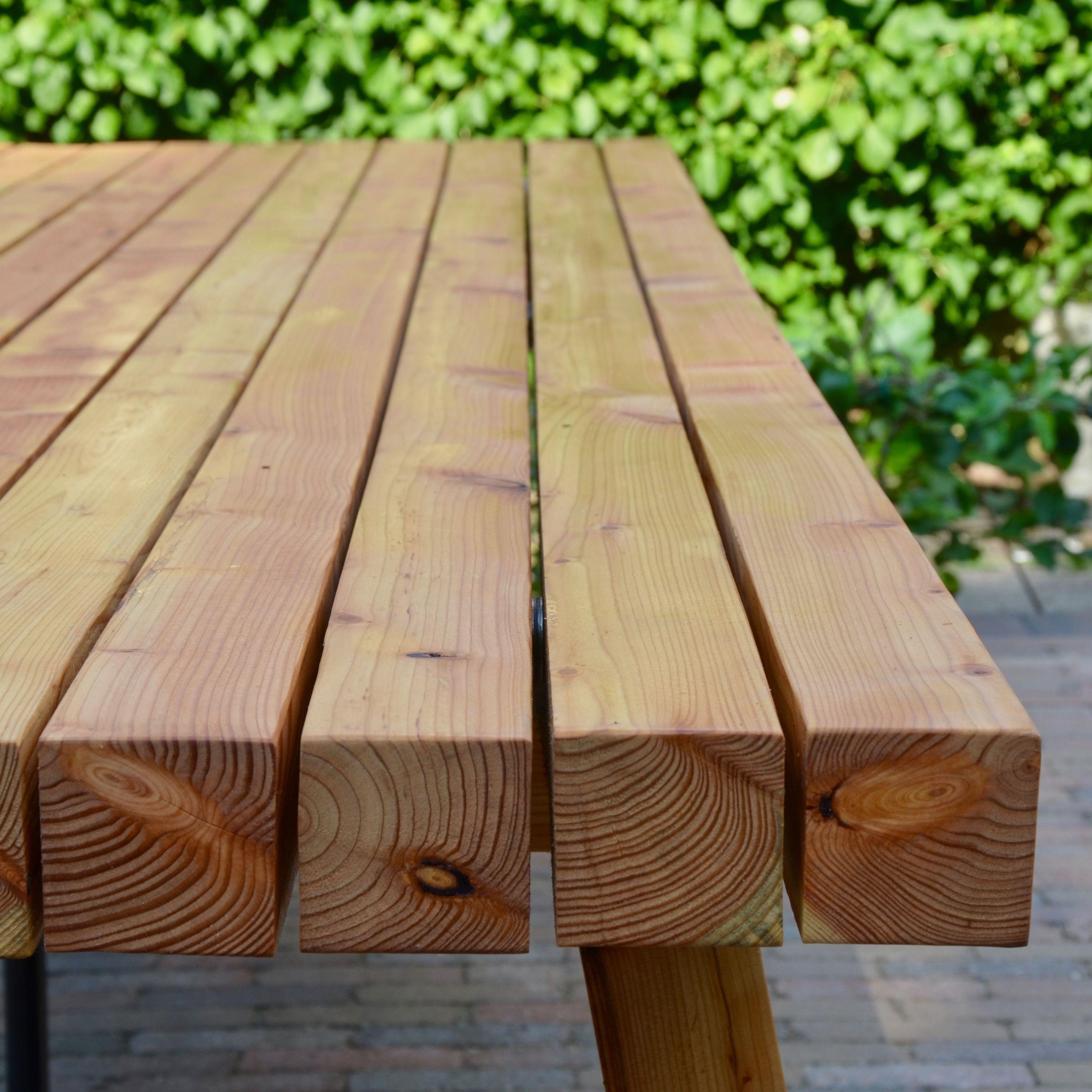Beste Tuintafel van houten balken in 2019 | Balken Buitentafel AS-93