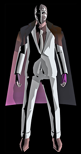 """MASK de Smith, a grenade-launching lucha libre wrestler from suda51's odd rail-shooter """"killer7"""" for the Nintendo GameCube, released by Capcom in 2005."""