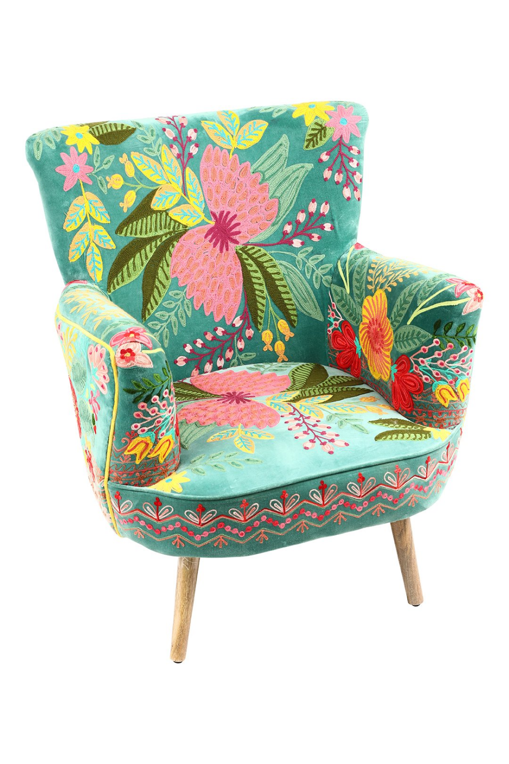 Jardin Boho Embroidered Armchair | Furniture | ISHKA ...