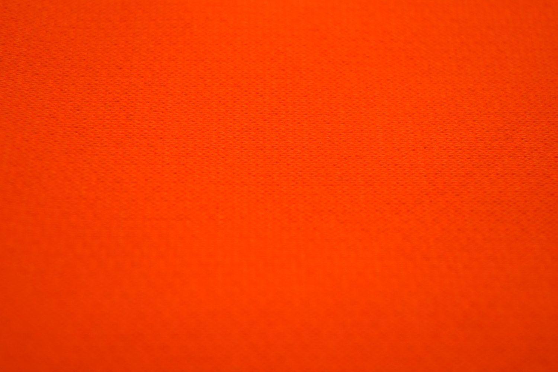 Poly cotton sweatshirt fleece fabric by the yard neon orange