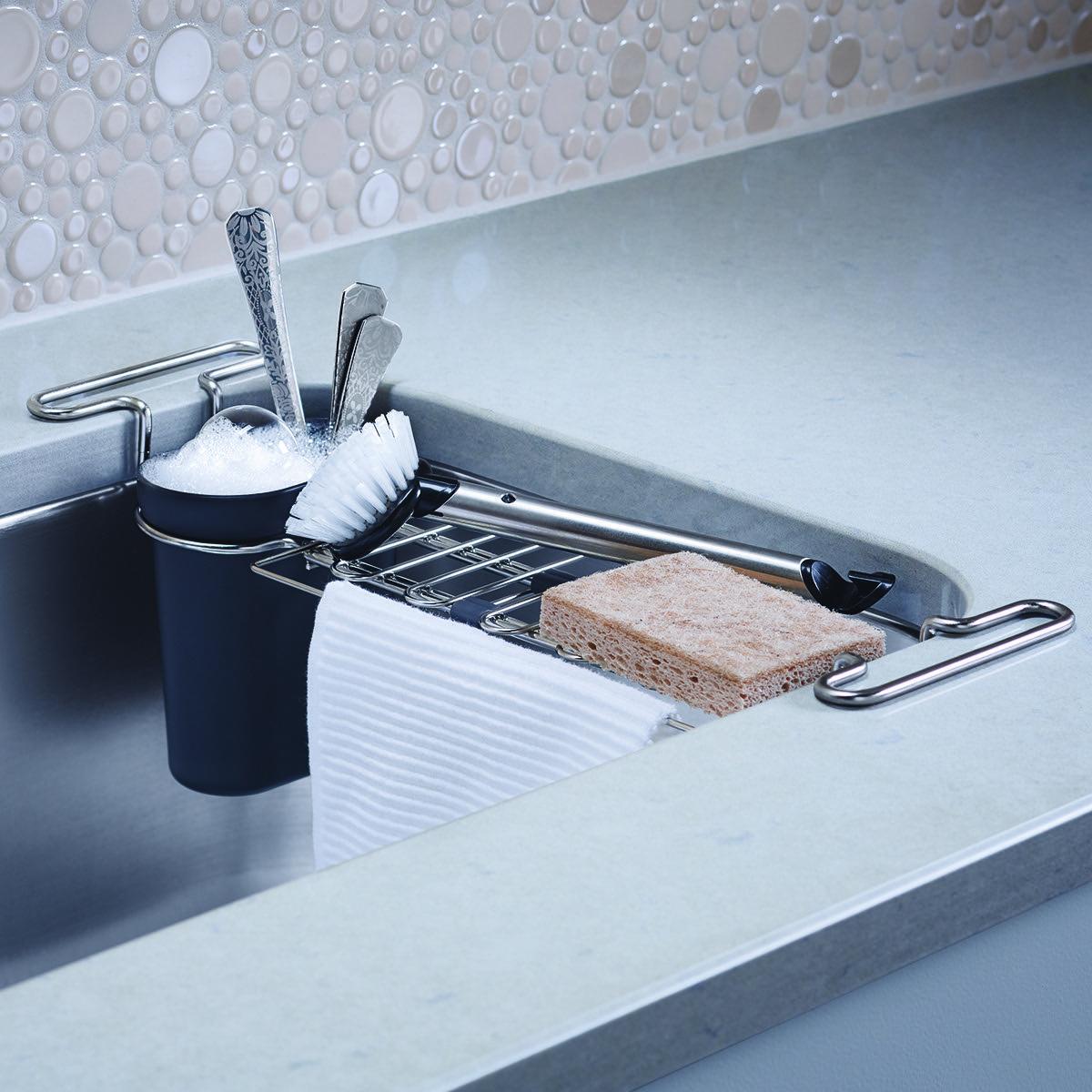 Kohler Chrome Kitchen Sink Utility Rack | The real house | Pinterest ...