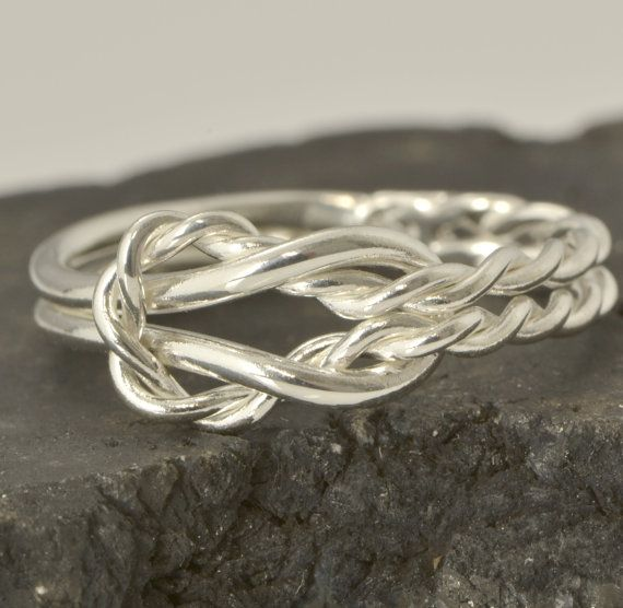 Fall Sale Infinity Knot Ring - Thumb Ring - Love Knot Ring - Argentium Strerling Silver - Handmade