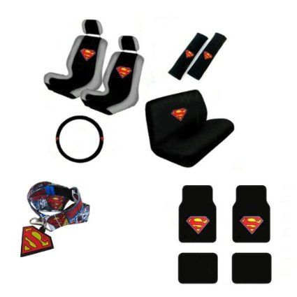Superman Car Accessories Seat Covers, Bench cover, Floor Mats ...