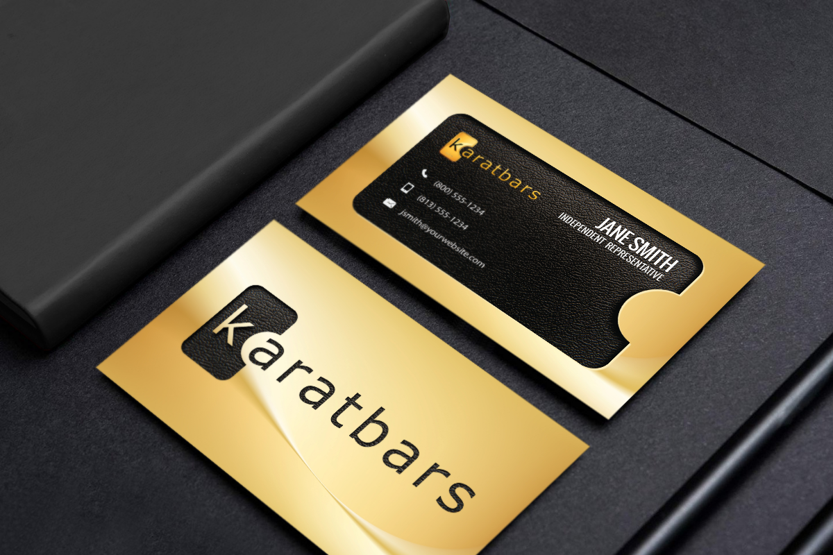Karatbars Business Cards Free Shipping Network Marketing Business Card Karatbars Marketing Business Card