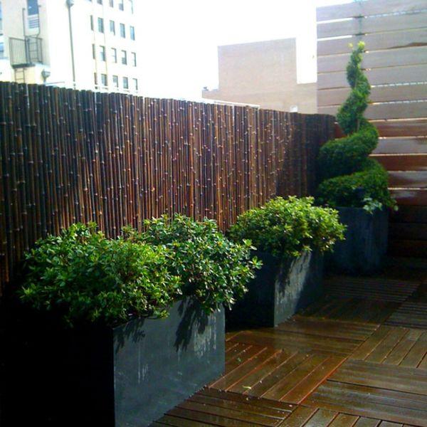 la canisse bambou une cl ture de jardin jolie et cologique outdoor gardens. Black Bedroom Furniture Sets. Home Design Ideas