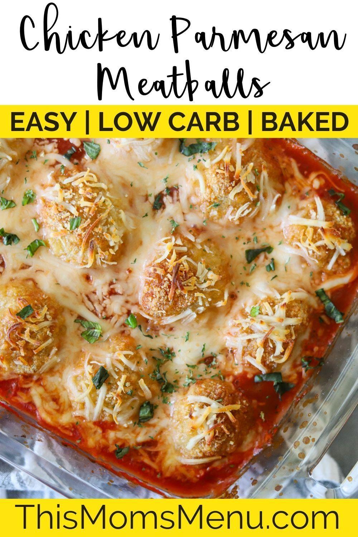Chicken Parmesan Meatballs Chicken Parmesan Ketogenic Recipes Dinner Parmesan Meatballs