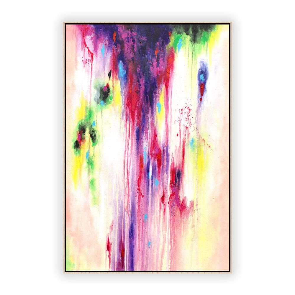 Original abstract painting on canvas vertical la0145c