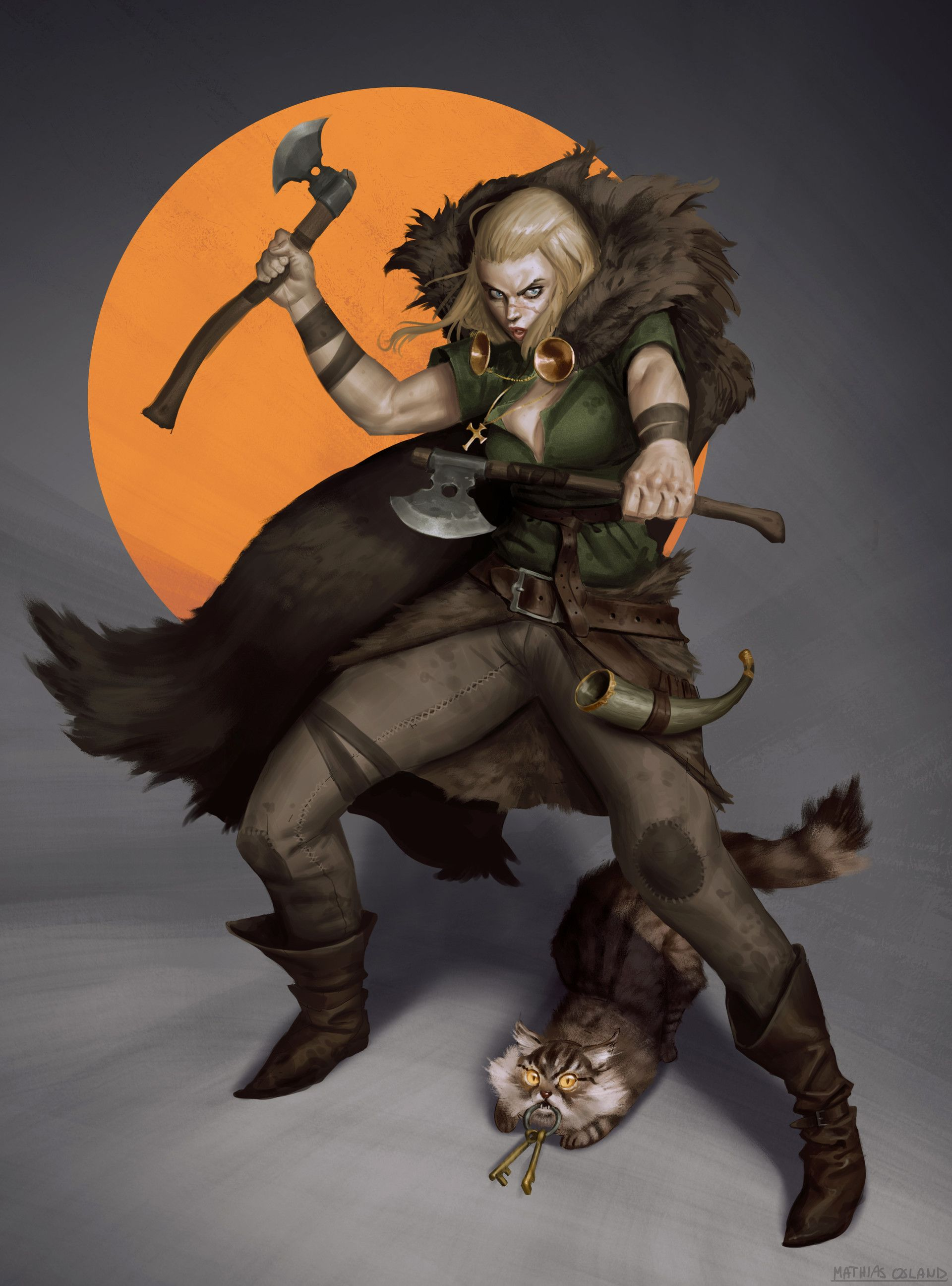 D D Dnd Pathfinder Fantasy Female Woman Barbarian