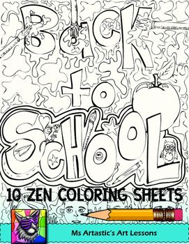 Back To School Coloring Pages Zen Doodles School Coloring Pages