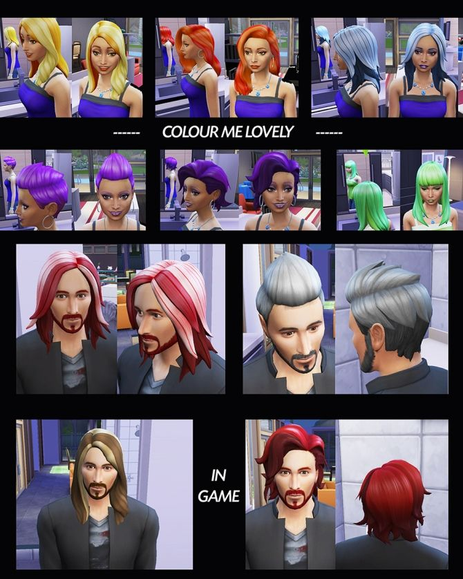 6 Base Game Hairs Recoloured by Simmiller at Mod The Sims via Sims 4 Updates