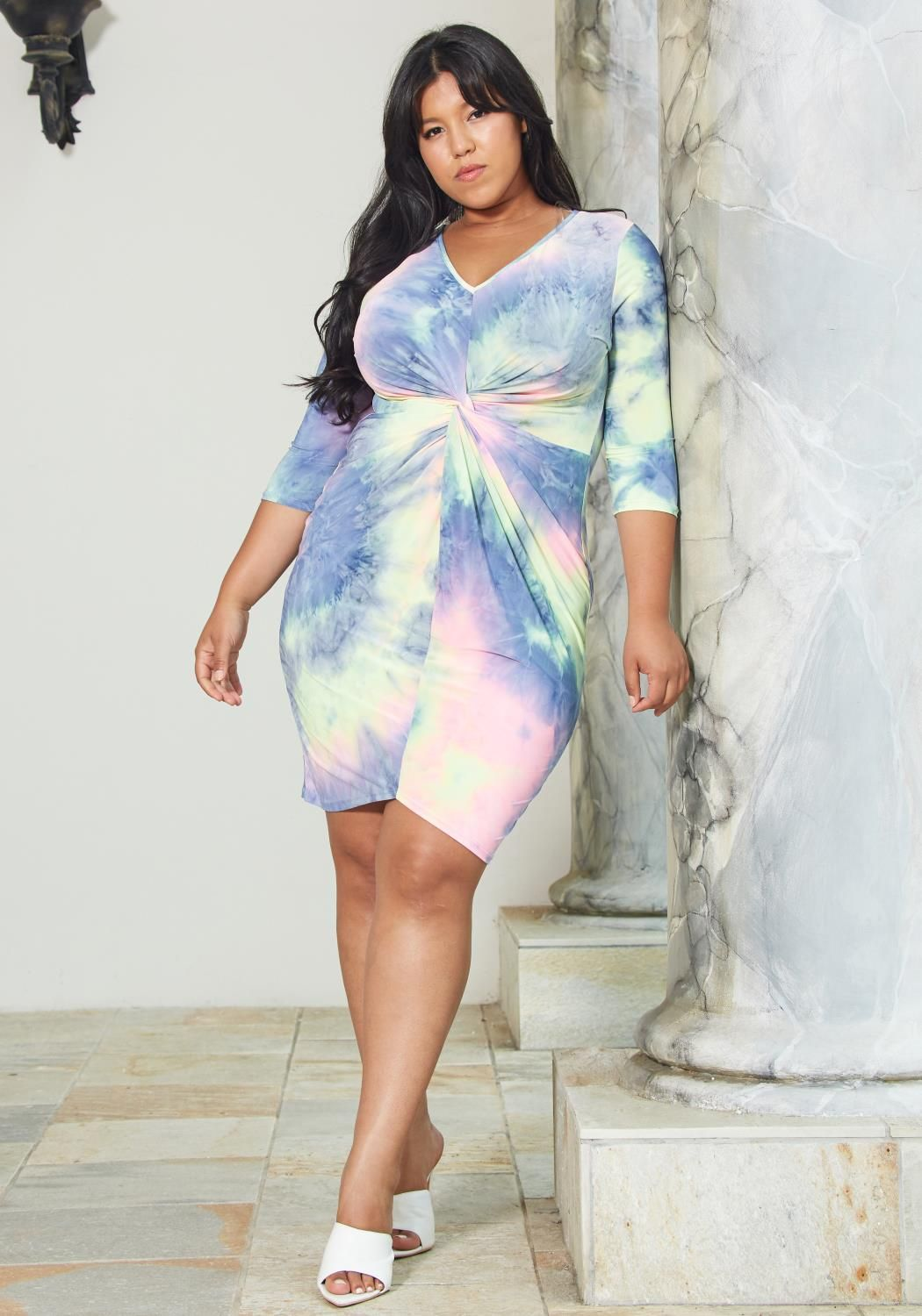50528a11f2 Asoph Plus Size Tie Dye Bodycon Dress | Asoph.com | All Summer ...