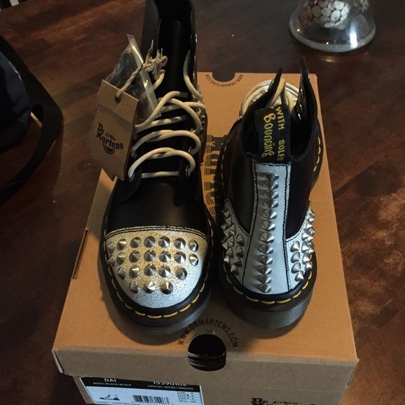 4103631d0ca7 Brand New Dr. Martens These brand new, studded Dr. Martens have never been  worn. They are a limited edition shoes with a studded toe and heel.
