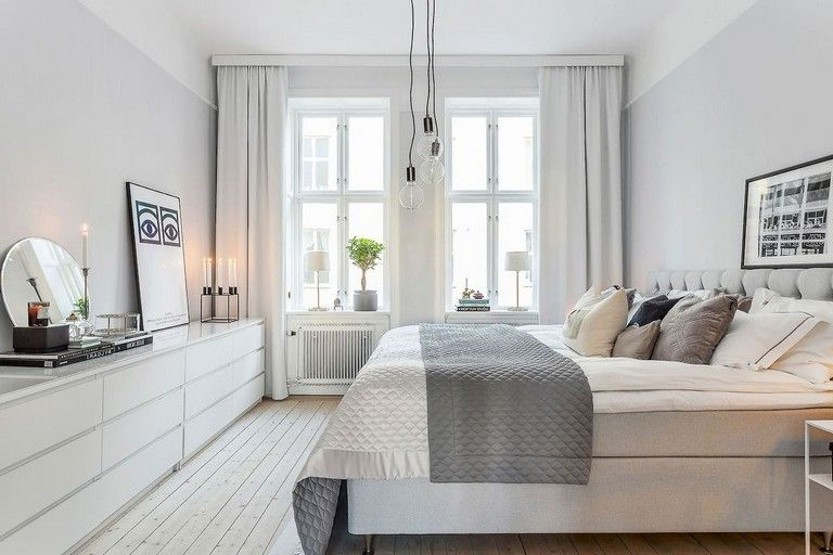 23 Awesome Elegance Scandinavian Bedroom Designs Trend Ideas Modern Scandinavian Bedroom Bedroom Design Trends Scandinavian Bedroom