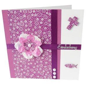 Einladungskarten Kommunion Eine Kommunionkarte Für Mädchen