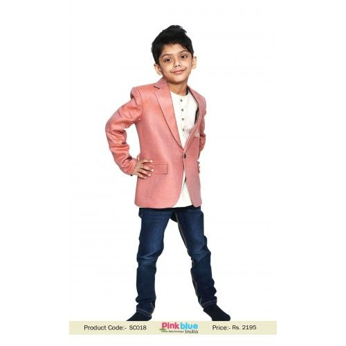 Blazer With Kurta For Boys In Indian Wedding Childrens