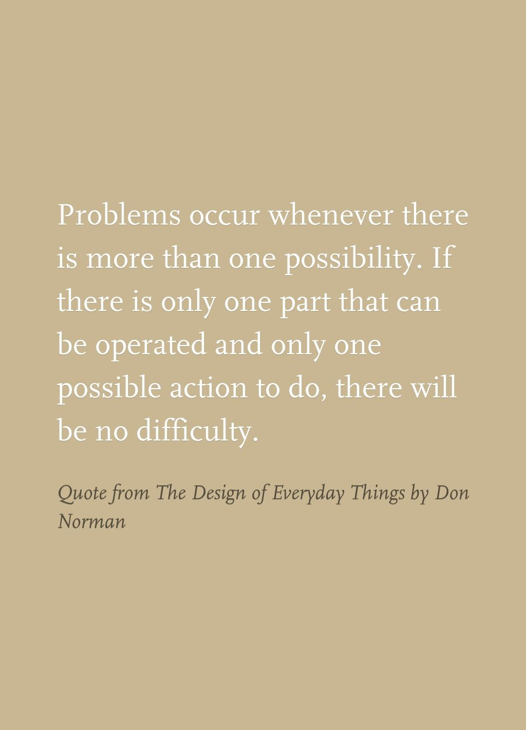 quote from the design of everyday things by don norman
