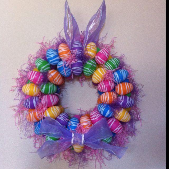 My Pinterest Easter Wreath! :)   Pinterest christmas ...