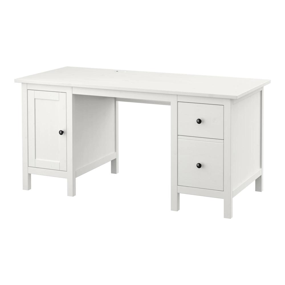 Hemnes Desk Gray Dark Gray Stained 61x25 5 8 Ikea Ikea Hemnes Desk Hemnes White Desks