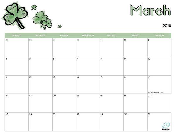 Blank Calendar Kid Friendly : Free printable calendar for kids