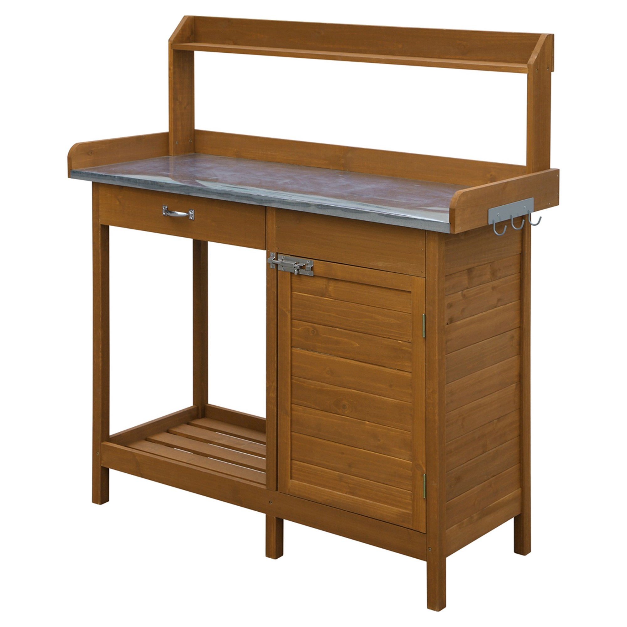 Surprising Deluxe Potting Bench Brown Convenience Products Gmtry Best Dining Table And Chair Ideas Images Gmtryco